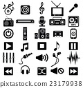 music icon set 23179938