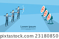 Business Man Group Aim Archer To Target Get Goal 23180850