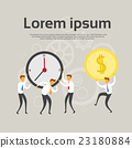 Businesspeople Team Hold Clock Coin 23180884