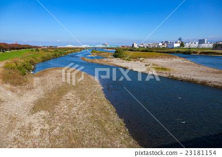 jinzukawa river, sandbank, scene 23181154