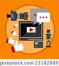 Modern Video Blog Banner Blogging Concept 23182689