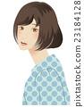 時尚鮑勃頭髮女人波爾卡圓點 23184128