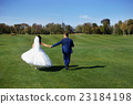 Weddings outside the city, walk across the field 23184198