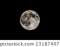Full moon in black sky, detailed view 23187407