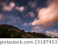 The starry sky with blurred motion colorful clouds 23187453