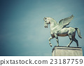 statue of pegasus on the roof of opera in poznan 23187759