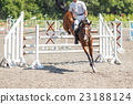 Equestrian jumping competition background 23188124