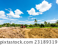 Tractor in construction site 23189319