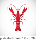 Vector image of an lobster design. 23190794