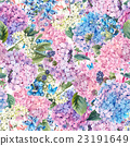 Floral seamless pattern with Hydrangea  23191649