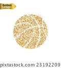 Gold glitter vector object 23192209