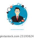 Business management concept flat illustration.  23193624