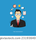 Business management concept flat illustration. 23193640