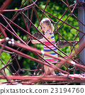 Child having fun on school yard playground 23194760