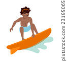 Surfing boy vector 23195065