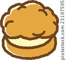 奶油泡芙 甜食 糖果店 23197595