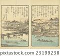 """에도 시대의 오사카 「도톤보리」( 「浪華의 賑ひ """"1855 년) 23199238"""