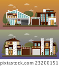 Vector flat illustration of two family house and 23200151