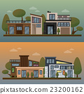 Vector flat illustration of two family house and 23200162