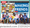 Making Friends Relationship Friendly Connection Concept 23201624