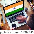 India Flag Patriotism Indian Pride Unity Concept 23202285