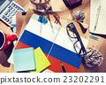 Russia Flag Patriotism Russian Pride Unity Concept 23202291
