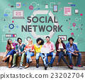 Social Network Communication Media Technology Concept 23202704