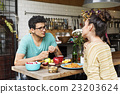 Couple Eating Food Feeding Sweet Concept 23203624