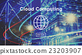 Cloud Computing Technology Online Website Concept 23203907