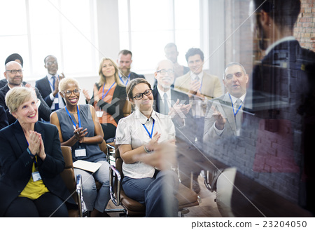 Stock Photo: Applause Appreciation Award Cheerful Meeting Concept