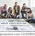 Under Construction Project Attention Building Concept 23204850
