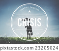 Crisis Loss Recession Disaster Business Concept 23205024