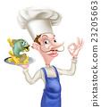 大厨 主厨 鱼 23205663