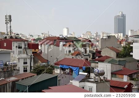 직사각형의 건물이 많다 하노이의 주택 (베트남) 23205930