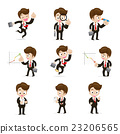 Set of 9 businessman in difference action vector  23206565