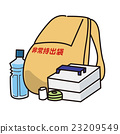 emergency bag, survival kit, vector 23209549