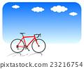 자전거와 푸른 하늘 자전거 레드 23216754