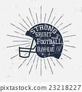 American Football retro helmet label with 23218227