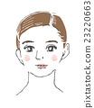여성, 여자, 얼굴 23220663