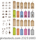 Colorful variety of tags and cats illustration 23231683