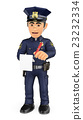 3D Policeman imposing a traffic ticket 23232334