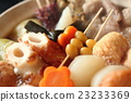 oden, cooking in a pot, food cooked in a pot 23233369