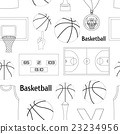 Basketball icons pattern 23234956