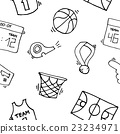 Basketball Elements Pattern 23234971