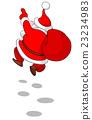 Cheerful Santa from back 23234983