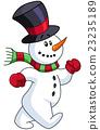 Snowman walking 23235189