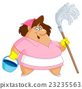 Cleaning woman 23235563