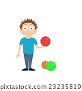 Vector Cartoon illustration of boy charater 23235819