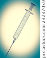 Syringe isolated on background 23237059