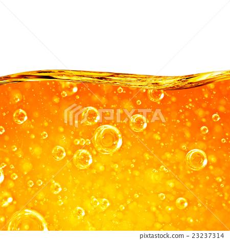 Stock Photo: Liquid flows orange wave